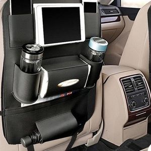 Luxe faux leather car sit back organizer
